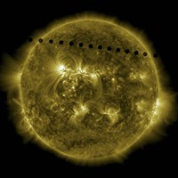 Venus Moving across the Face of the Sun - various sizes