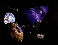 An asteroid Mining Mission - various sizes