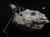 Galileo spacecraft discovering Asteroid 243 Ida and its Moon, Dactyl by Elena Duvernay - various sizes