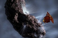 Deep Impact's Encounter with Comet Tempel 1 Fine Art Print