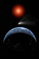 A Comet passing the Earth by Mark Stevenson - various sizes