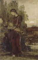 Young Thracian Girl Holding The Head Of Orpheus Fine Art Print