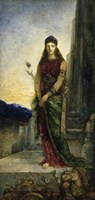 Helen On The Walls Of Troy, With Two Figures At Her Feet Fine Art Print