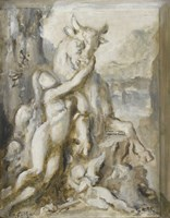 Pasiphae, Grisaille, 19th Century Fine Art Print