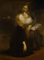 Intimacy, Also Called The Big Sister, 1889 Fine Art Print