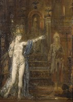 """Salome Dancing, Called """"""""Tatooed Salome"""""""" (Detail), 1876 by Gustave Moreau, 1876 - various sizes"""