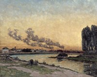 Sunset At Ivry, 1878 by Armand Guillaumin, 1878 - various sizes