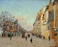 Quai De La Gare, Snow, 1880 Fine Art Print