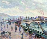 The Seine-River At Rouen Fine Art Print