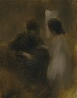 Female Silhouettes In An Interior Fine Art Print