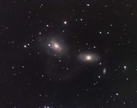 Galaxies NGC 3166 and NGC 3169 in the Constellation Sextans Fine Art Print