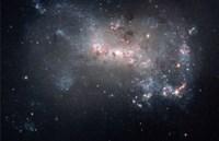 Magellanic dwarf irregular galaxy NGC 4449 in the Constellation Canes Venatici - various sizes