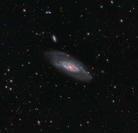Messier 106, a spiral galaxy in the Constellation Canes Venatici Fine Art Print