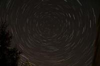 Star Trails around Polaris in the Constellation Ursa Minor Fine Art Print
