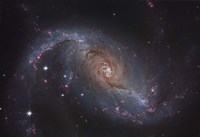 Barred spiral galaxy NGC 1672 in the Constellation Dorado Fine Art Print