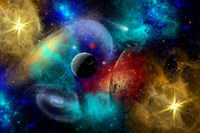 Galaxy  featuring planets, galaxies and Nebulae Fine Art Print