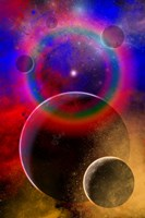 New planets and solar systems forming within a Gaseous Nebula Fine Art Print