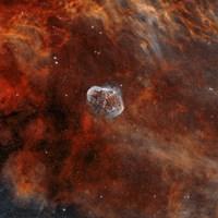 Crescent Nebula with Soap-Bubble Nebula II Fine Art Print