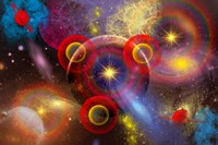 Planets and stars mixed together in an ever-changing Nebula by Mark Stevenson - various sizes