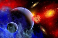 A mixture of colorful stars, planets, Nebulae and galaxies by Mark Stevenson - various sizes, FulcrumGallery.com brand