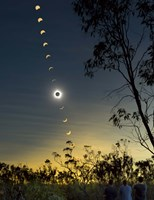 Solar Eclipse composite, Queensland, Australia I Fine Art Print