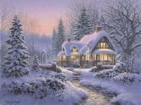 Winter's Blanket Wouldbie Cottage Fine Art Print