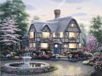 Freeman Cottage Fountain Fine Art Print