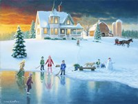 The Skating Pond by Richard Burns - various sizes - $29.99