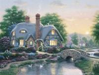 Drake's Cottage Garden Framed Print