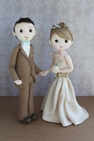 Bride And Groom Taupe by Sugar High - various sizes