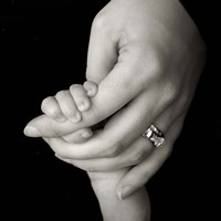 Baby And Adult Hand III Fine Art Print