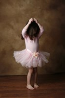 Little Girl In Ballet Outfit Fine Art Print