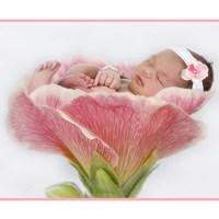 Baby In Pink Bloom Framed Print
