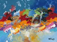 Abstract Ocean Blue 5 Fine Art Print