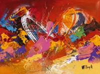 Abstract Orange Summer 1 Fine Art Print