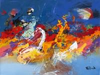 Abstract Ocean Blue 3 Fine Art Print