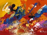 Abstract Orange Summer 3 Fine Art Print