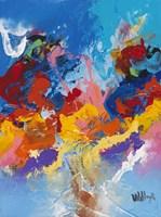 Abstract Ocean Blue 4 Fine Art Print