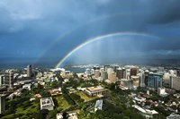 Downtown Honolulu Double Rainbow by Cameron Brooks - various sizes
