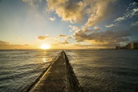 Waikiki Jetty Sunset by Cameron Brooks - various sizes