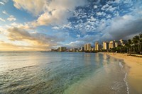 Waikiki Queens Sunset by Cameron Brooks - various sizes