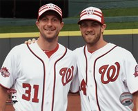Max Scherzer & Bryce Harper 2015 MLB All-Star Game Fine Art Print