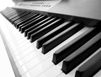 Yamaha P120 close-up of Piano Keys Fine Art Print