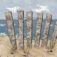 Beach Scene Triptych I by Jade Reynolds - various sizes