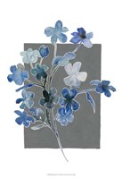 Blue Bouquet I Framed Print