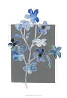 """Blue Bouquet II by Grace Popp - 13"""" x 19"""", FulcrumGallery.com brand"""