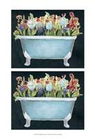 2-Up Bathtub Garden I Framed Print