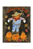 Fall Scarecrow I Framed Print