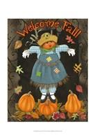 Fall Scarecrow II Fine Art Print