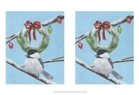 "Chickadee Christmas III 2-Up by Grace Popp - 13"" x 10"""